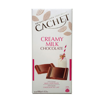 Шоколад молочный CACHET CREAMY MILK CHOCOLATE 100 г