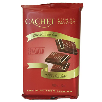 Шоколад молочный CACHET EXTRA FINE MILK CHOCOLATE 300 г