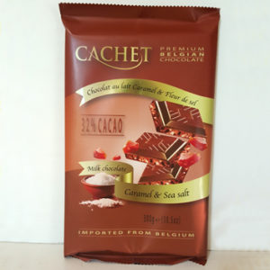 Шоколад молочный с карамелью и морской солью CACHET MILK CHOCOLATE CARAMEL & SEA SALT 300 г