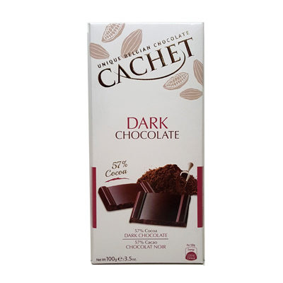 Шоколад черный 57% какао CACHET DARK CHOCOLATE 57% COCOA 100 г