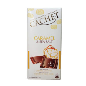 Шоколад молочный с карамелью и морской солью CACHET MILK CHOCOLATE CARAMEL & SEA SALT 100 г