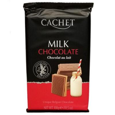 Шоколад молочный CACHET EXTRA FINE MILK CHOCOLATE 300 г