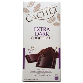 Шоколад Экстра черный 85% какао CACHET EXTRA DARK CHOCOLATE 85% COCOA 100 г
