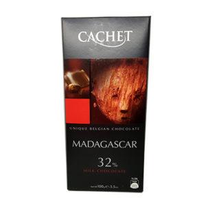 Шоколад молочный CACHET Milk Madagascar 32 % какао (Каше Мадагаскар) 100 г