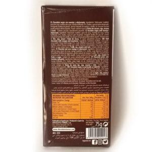Шоколад черный без глютена и сахара Torras naranja с апельсином 75 г
