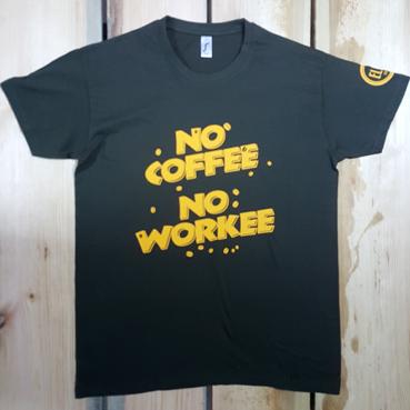 Футболка NO COFFEE NO WORKEE