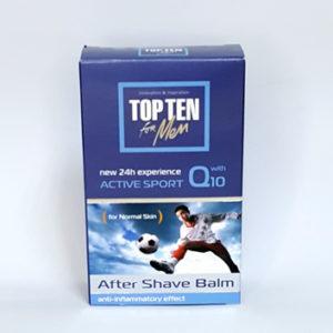 Бальзам после бритья TOP TEN ACTIVE SPORT Q10 для нормальной кожи с коэнзимом Q10, 100 мл