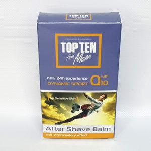 Бальзам после бритья TOP TEN ACTIVE SPORT Q10 для чувствительной кожи с коэнзимом Q10, 100 мл