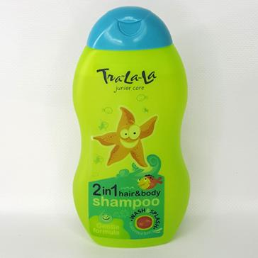 Детский шампунь Tra-la-la 2 в 1 с ароматом арбуза 250 мл (3+)
