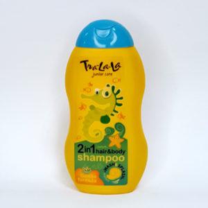 Детский шампунь Tra-la-la 2 в 1 с ароматом дыни 250 мл (3+)