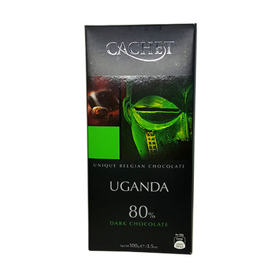 Шоколад экстра черный CACHET Extra Dark Uganda 80% какао (Каше Уганда) 100 г
