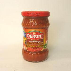 Лютеница крупномолотая аппетитно-острая DERONI 260 г