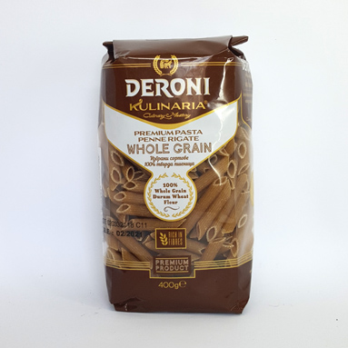 Макароны Deroni Whole Grain pasta Penne Rigate 400 г