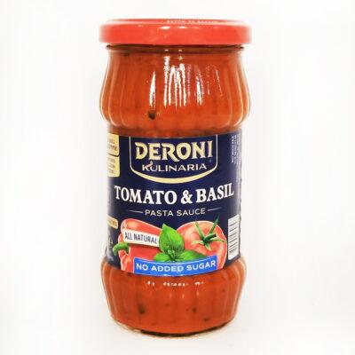 Соус для пасты DERONI KULINARIA TOMATO&BASIL 310 г