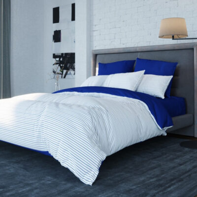 Постельное белье BalakHome Stripe blue Евростандарт