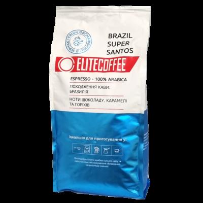 Кофе ELITECOFFEE Brazil Super Santos в зернах 1 кг